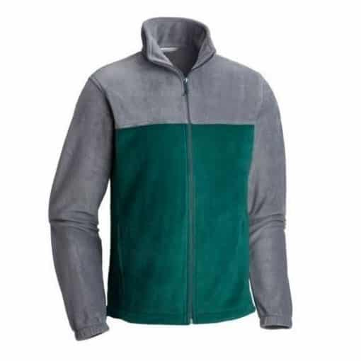 NIJ IIIA Bullet Resistant Dixon Fleece Jacket For Men ivy-graphite