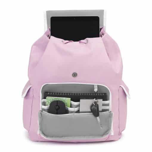 NIJ IIIA Bulletproof Double Duty Day Pack Iced Lilac/White