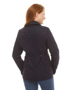 NIJ IIIA Bulletproof Woman's Quilted Jacket Navy rear