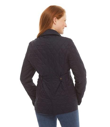 NIJ IIIA Bulletproof Woman's Quilted Jacket Navy rear