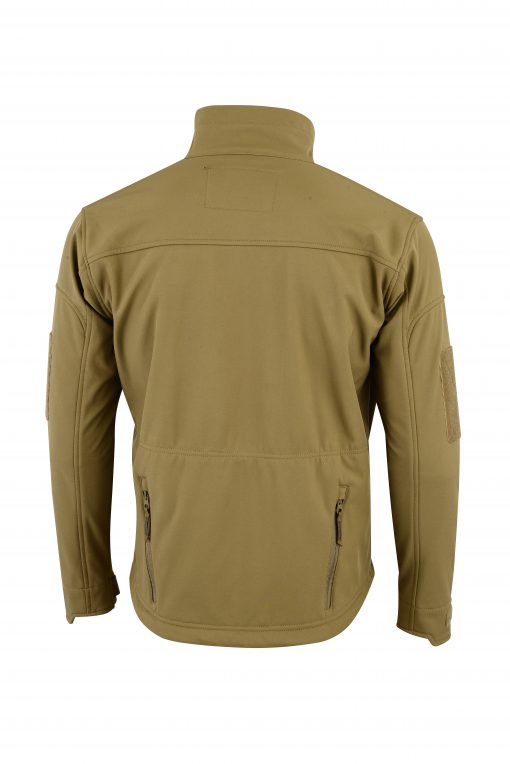 ECHO SOFT-SHELL JACKET COYOTE REAR