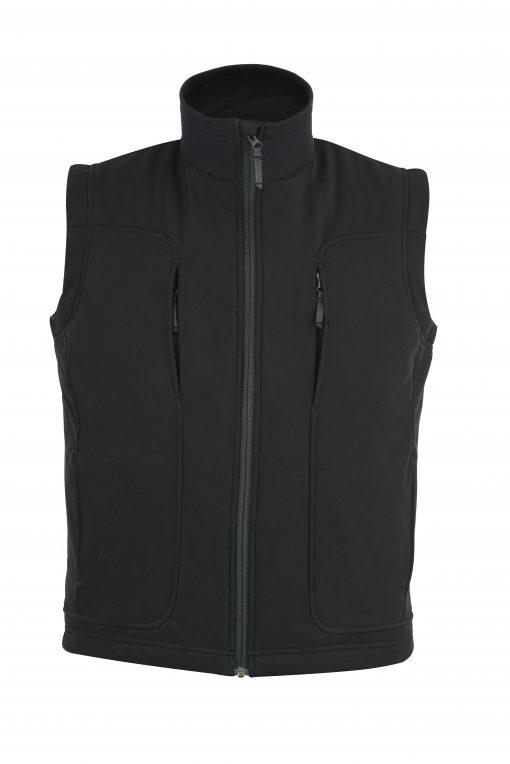 Victor Soft-Shell Wind & Water Resistant Vest BLACK
