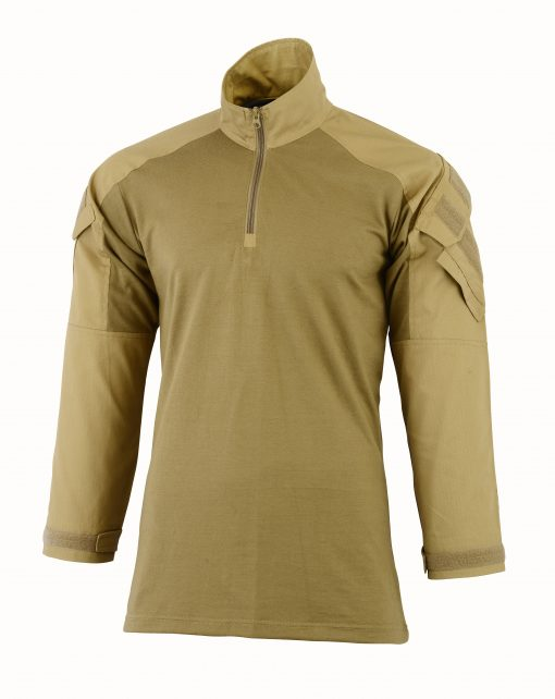 Hybrid Tactical Combat Shirt Coyote Fron