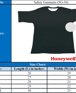Size Chart Cut & Slash Resistant T-Shirt