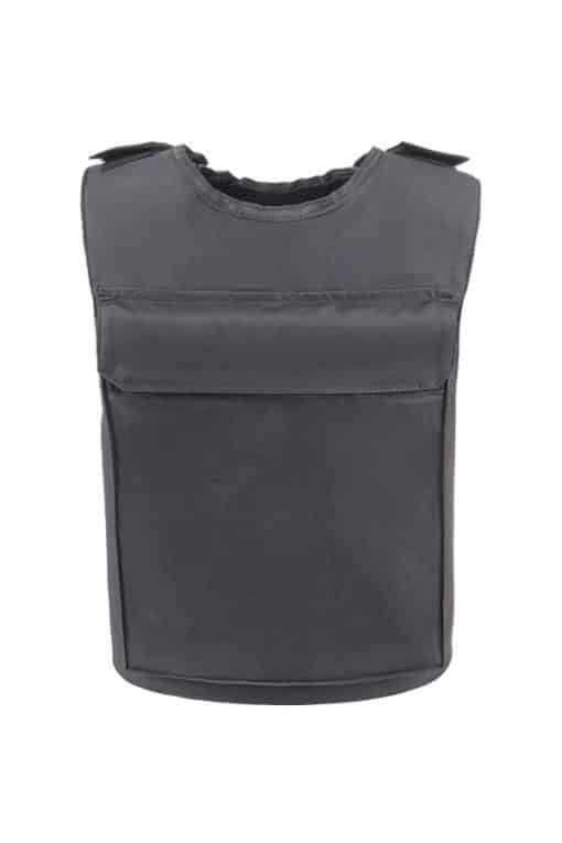 Commander™ overt bullet and stab resistant vest black back