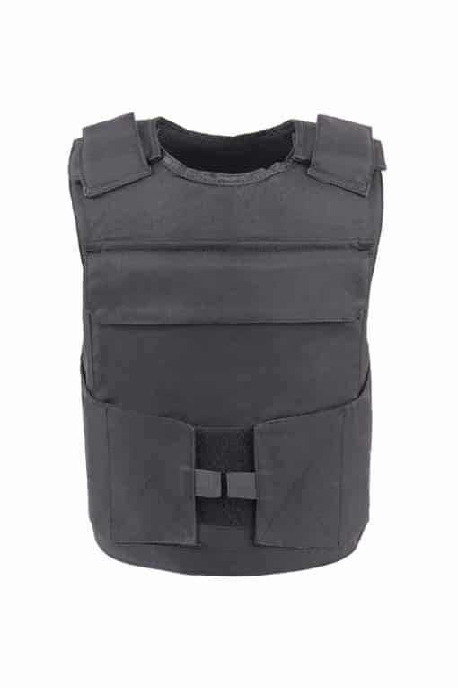 Commander™ overt bullet and stab resistant vest black front
