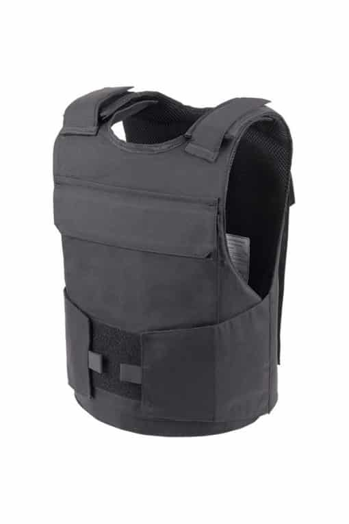 Commander™ overt bullet and stab resistant vest black side