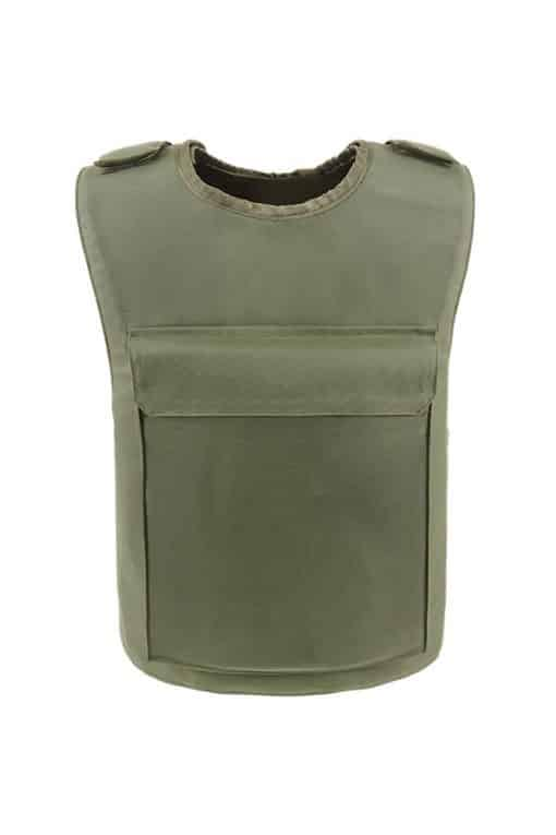 Commander™ overt bullet and stab resistant vest olive drab back