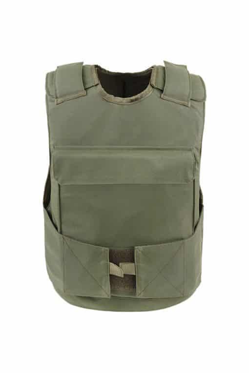 Commander™ overt bullet and stab resistant vest olive drab front