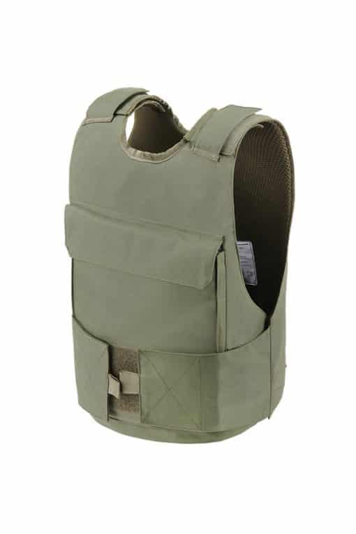 Commander™ overt bullet and stab resistant vest olive drab side