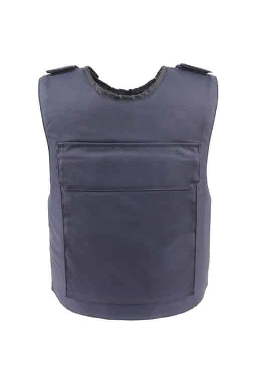 Commander™ overt bullet and stab resistant vest navy blue back