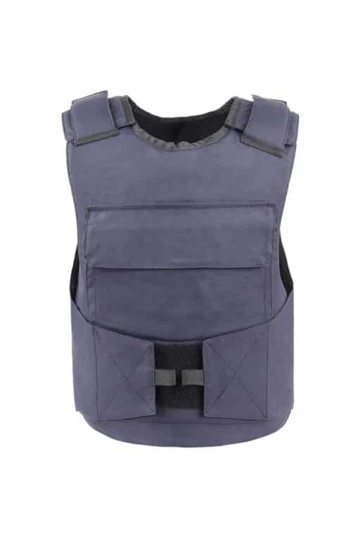 Commander™ overt bullet and stab resistant vest navy blue front