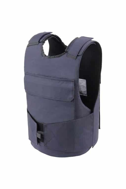Commander™ overt bullet and stab resistant vest navy blue side