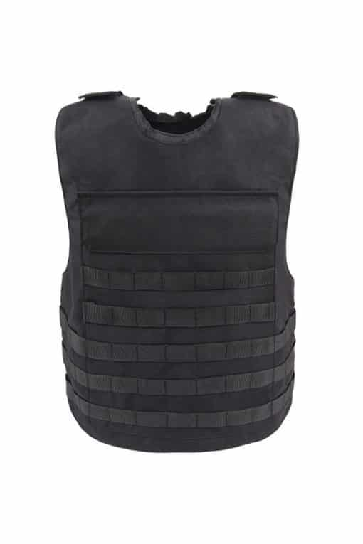 Commander™ overt bullet and stab resistant vest black with molle