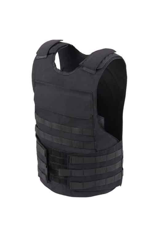 Commander™ overt bullet ad stab resistant vest black blue with molle side