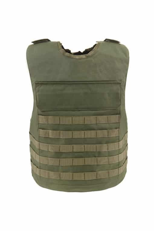 Commander™ overt bullet and stab resistant vest olive drab with molle back