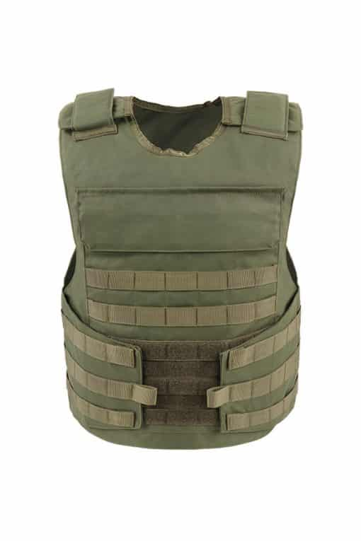 Commander™ overt bullet and stab resistant vest olive drab with molle front
