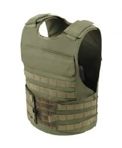 Commander™ overt bullet and stab resistant vest olive drab with molle side