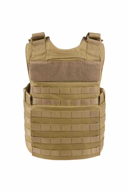 Commander Series 2 overt bullet resistant and stab resistant vest with molle-tan-back