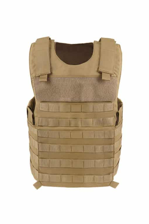 Commander Series 2 overt bullet resistant and stab resistant vest with molle-tan-front