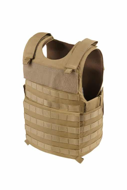 Commander Series 2 overt bullet resistant and stab resistant vest with molle-tan-Side