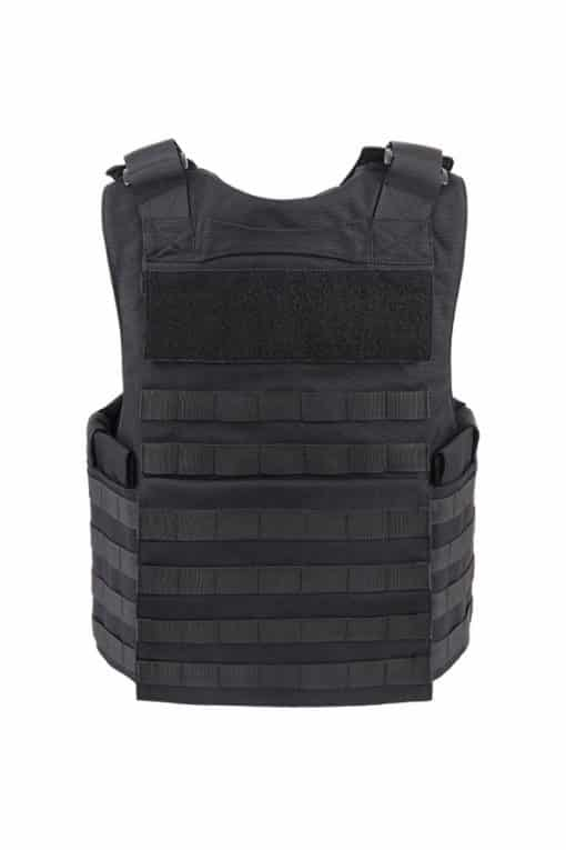 Commander Series 2 overt bullet resistant and stab resistant vest with molle-Black-back