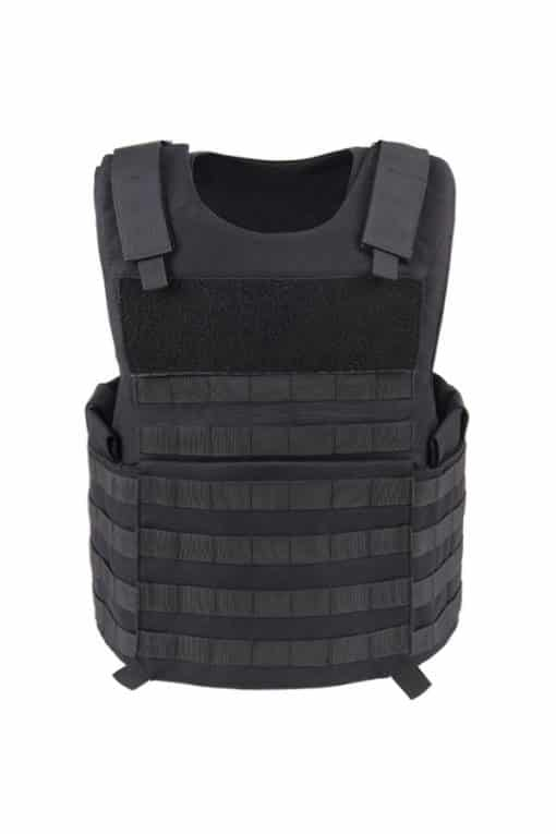 Commander Series 2 overt bullet resistant and stab resistant vest with molle-Black-front