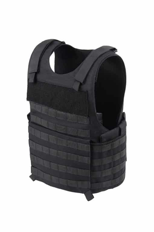 Commander-Series-2-overt-bullet-resistant-and-stab-resistant-vest-with-molle-Black-Side