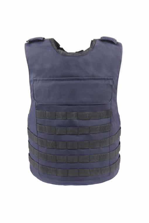 Commander™ overt bullet ad stab resistant vest navy blue with molle front