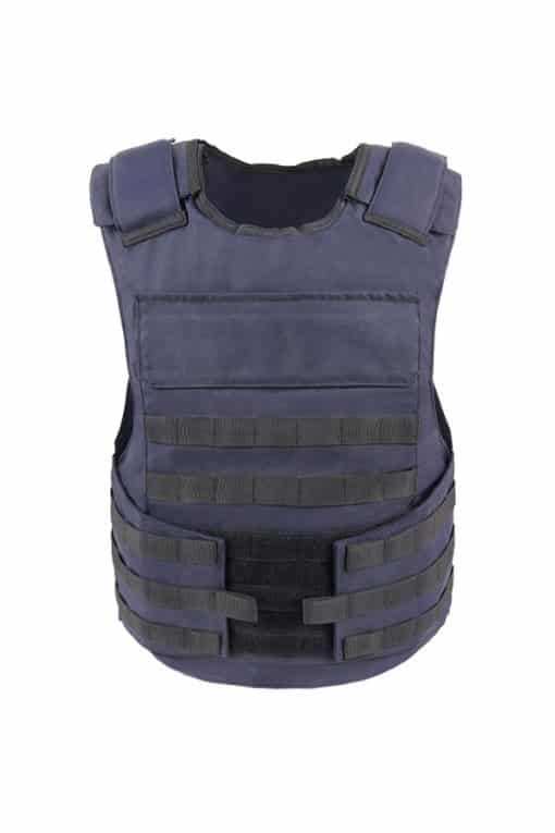 Commander™ overt bullet and stab resistant vest navy blue with molle front