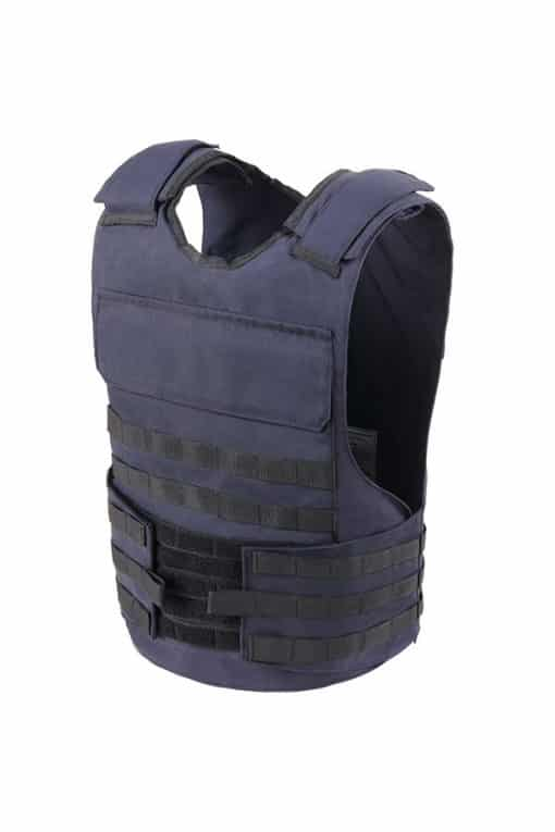 Commander™ overt bullet and stab resistant vest navy blue with molle side