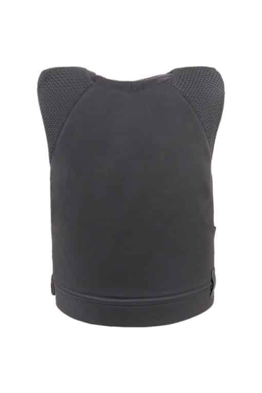 Stealth covert bullet and stab resistant vest back