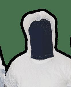 Pol-i-veil spit hood