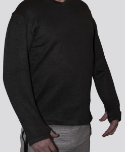 Cut-Tuff™ Cut Resistant Long Sleeve V-Neck Shirt Grey