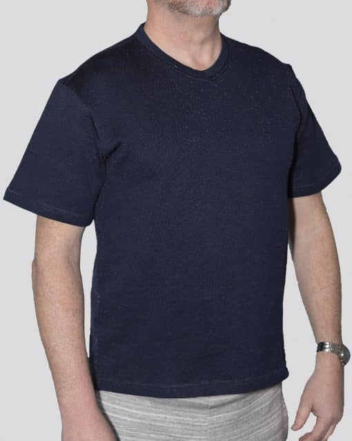 Cut-Tuff™ Cut Resistant Short Sleeve V-Neck T-Shirt Navy