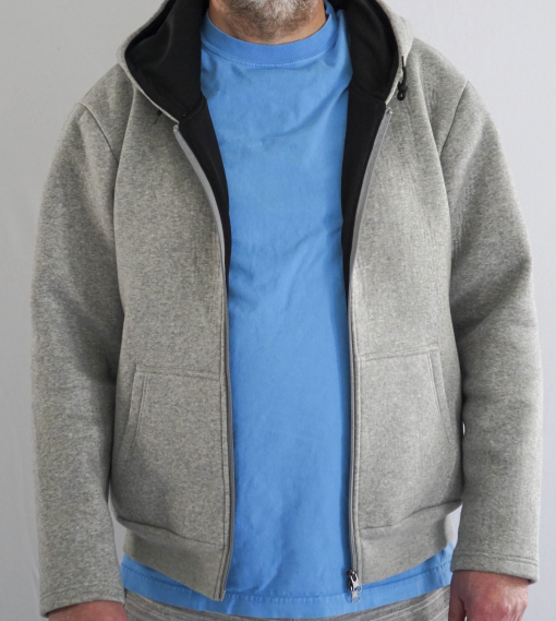cut and bite resistant hoodie open